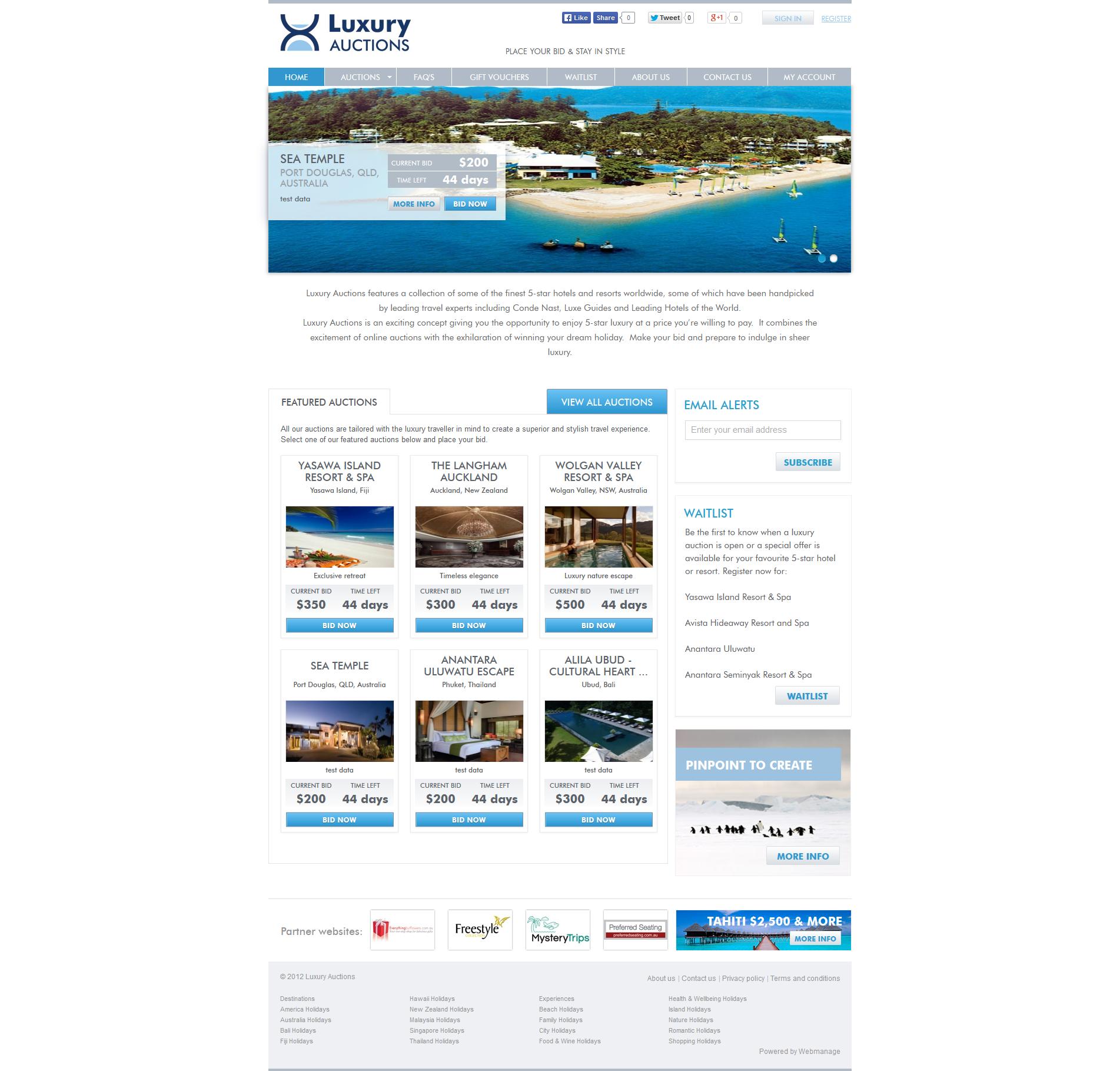 Luxury Travel Auctions