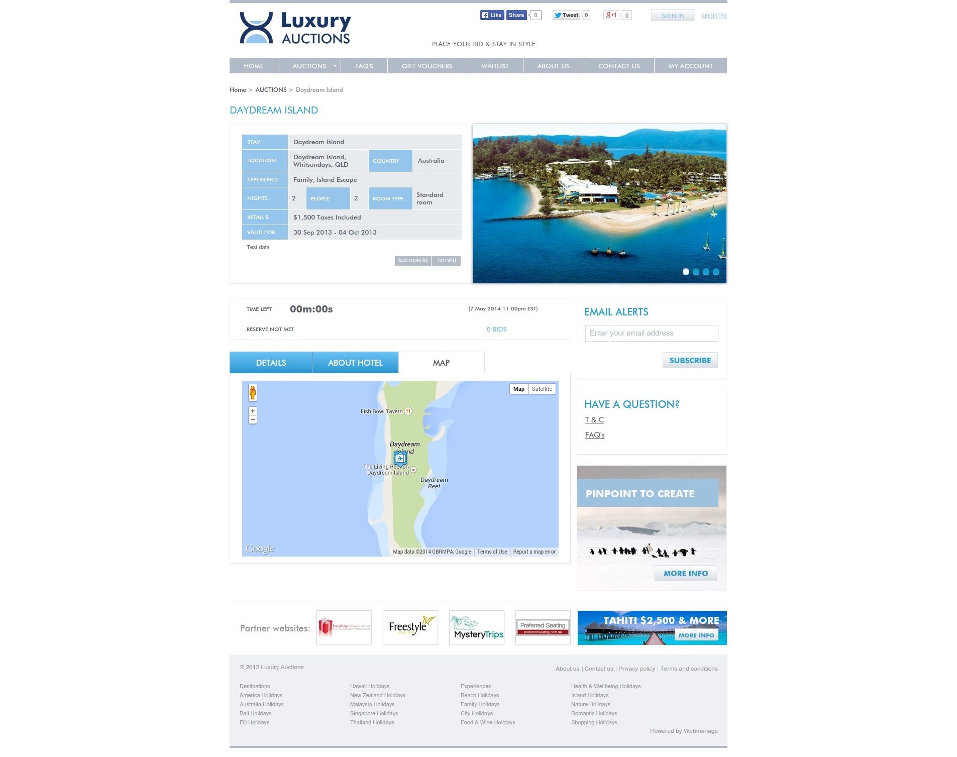Luxury Travel Auction - Auction Detail